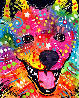 Prairie Dog Mixed Media - American Eskimo Dog by Dean Russo
