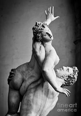 Women Photograph - Ancient Sculpture Of The Rape Of The Sabine Women. Florence, Italy by Michal Bednarek