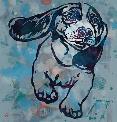 Animal Pop Art Etching Poster - Dog  Print by Kim Wang