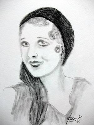 Icon Drawing - Anita Page by Jean Billsdon