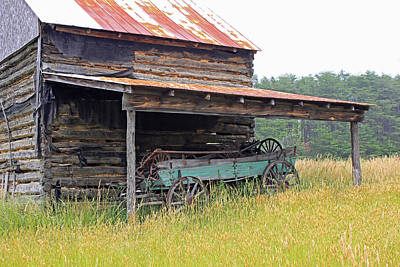 Log Cabin Art Photograph - Another Time by Suzanne Gaff