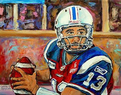 Sports Celebities Painting - Anthony Calvillo by Carole Spandau