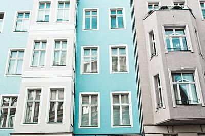 Apartment Buildings Print by Tom Gowanlock