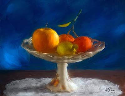 Colourfull Photograph - Apple, Lemon And Mandarins. Valencia. Spain by Juan Carlos Ferro Duque