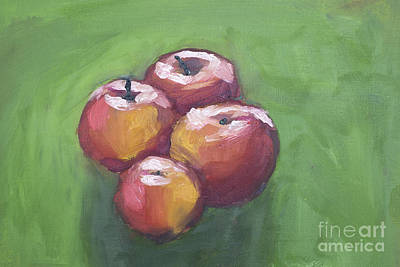 Apple Still Life Print by Caffrey Fielding
