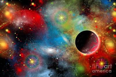 Planetary System Digital Art - Artists Concept Illustrating by Mark Stevenson