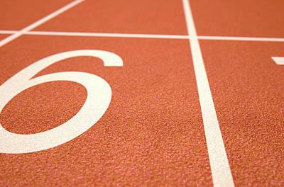 Sprinting Digital Art - Athletics Track Startline by Allan Swart