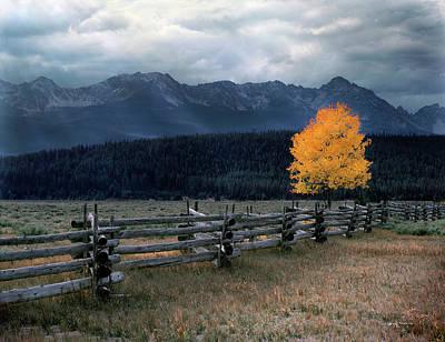 Sawtooth Photograph - Autumn Light by Leland D Howard
