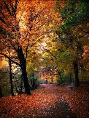 Autumn Promenade Print by Jessica Jenney