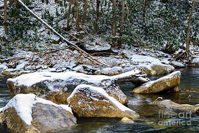 Autumn Snow Cranberry River Print by Thomas R Fletcher