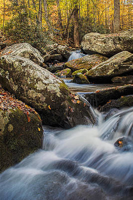 Rock Photograph - Autumn Stream by Andrew Soundarajan