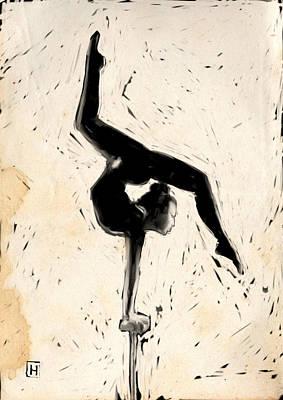 Acrobat Drawing - Balance by H James Hoff