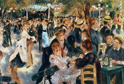 Montmartre Painting - Ball At The Moulin De La Galette by Pierre Auguste Renoir