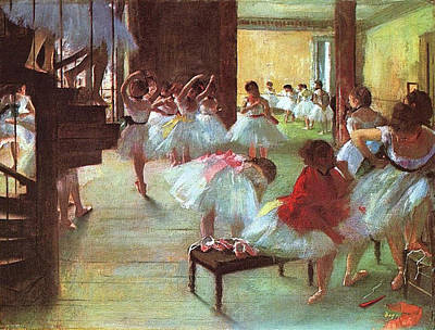 Ballet Painting - Ballet School by Edgar Degas