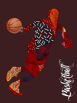 Nba Mixed Media - Basketball Collection by Marvin Blaine
