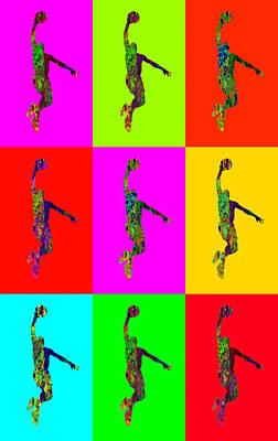Sportsman Digital Art - Basketball Player by Elena Kosvincheva