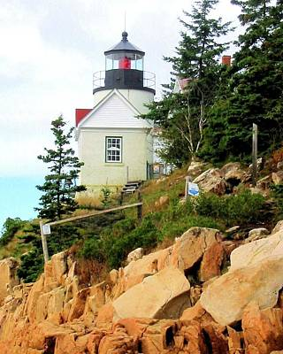 Acadia Photograph - Bass Harbor Light by Robert McCulloch