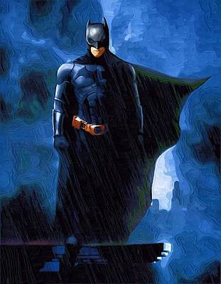 Superman Digital Art - Batman 1 Print by Egor Vysockiy
