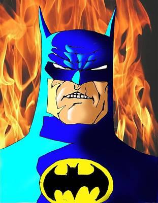 Ben Affleck Drawing - Old Batman by Salman Ravish