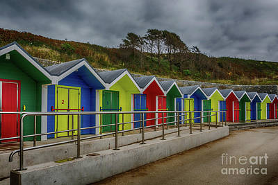 Photograph - Beach Huts 1 by Steve Purnell