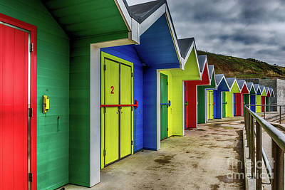 Photograph - Beach Huts 2 by Steve Purnell