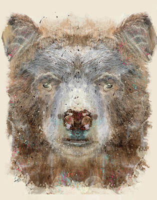 Colourfull Painting - Bear Grizzly by Bri B