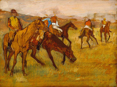 Race Painting - Before The Race by Edgar Degas