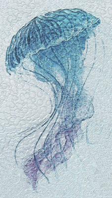 Sea Horse Digital Art - Beneath The Waves by Jack Zulli