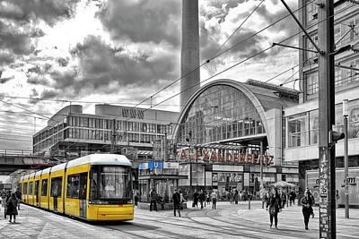 Streetcar Photograph - Berlin Alexanderplatz by Joachim G Pinkawa