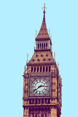 Landscapes Painting - Big Ben Tower, London  by Asar Studios