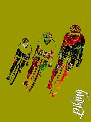 Bicycles Mixed Media - Bike Racing by Marvin Blaine