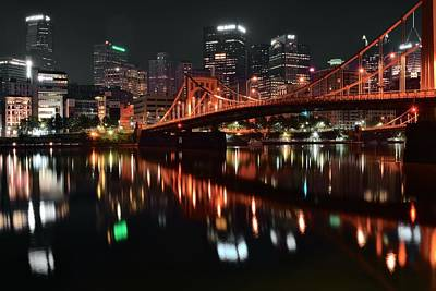Black Night In Pittsburgh Print by Frozen in Time Fine Art Photography