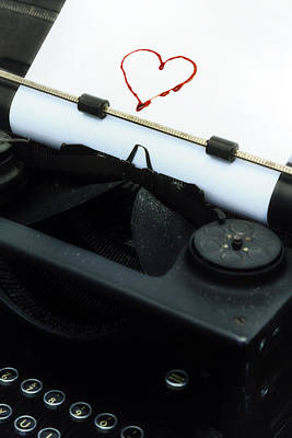 Typewriter Photograph - Bleeding Heart by Joana Kruse
