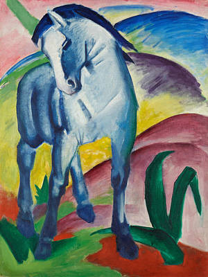 Blue Horse Painting - Blue Horse I by Franz Marc