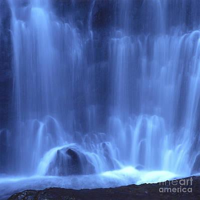 Environment Photograph - Blue Waterfall by Bernard Jaubert