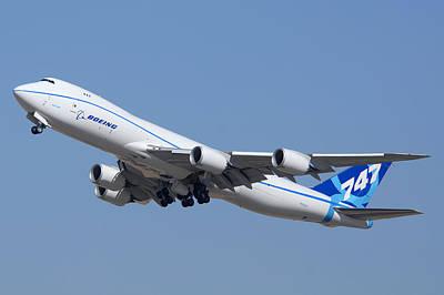 Boeing 747-8 N50217 At Phoenix-mesa Gateway Airport Print by Brian Lockett