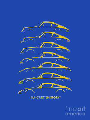 Boxer Sports Car Silhouettehistory Print by Gabor Vida