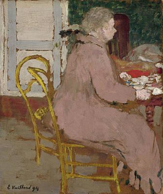 Female Painting - Breakfast by Edouard Vuillard