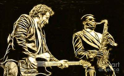 Bruce Mixed Media - Bruce Springsteen Clarence Clemons Collection by Marvin Blaine