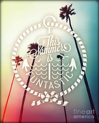 Beach Landscape Mixed Media - California Palms I by Chris Andruskiewicz