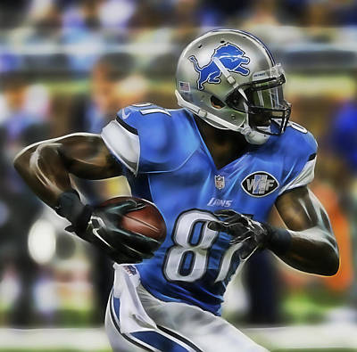Calvin Johnson Collection Print by Marvin Blaine