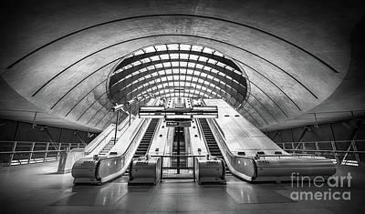 London Tube Mixed Media - Canary Wharf by Svetlana Sewell