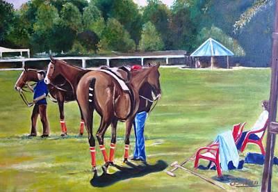 Polo Painting - Cancha Del Rio 2 by Carlos Jose Barbieri