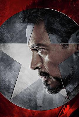 Horror Digital Art - Captain America Civil War 2016 by Caio Caldas