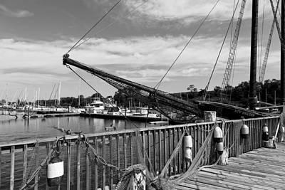 Netting Photograph - Captain Cove Seaport Connecticut by Mountain Dreams