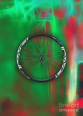 Bicycle Art Mixed Media - Carbon Fiber Bicycle Wheel Collection by Marvin Blaine