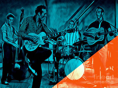 Poster Mixed Media - Carl Perkins Collection by Marvin Blaine