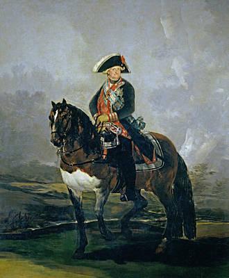 Riding Painting - Carlos Iv On Horseback by Francisco Goya