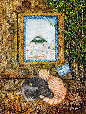 Painting - 2 Cat Sweet Dream by Fine art Photographs