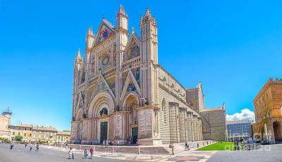 Orvieto Photograph - Cathedral Of Orvieto, Duomo Di Orvieto, Umbria, Italy by JR Photography